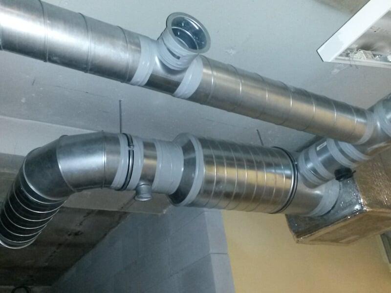 Diagonální ventilátor  s pevným Spiro potrubím